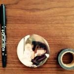 スタジオアリスフォト缶マグネットのサイズは7cm!気に入ったー☆