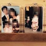 スタジオアリスの四つ切り写真とキーホルダーの飾り方アイディア
