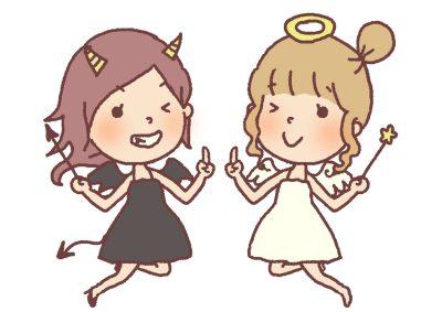 悪魔と天使のイラスト