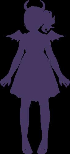 悪魔の女の子イラスト画像