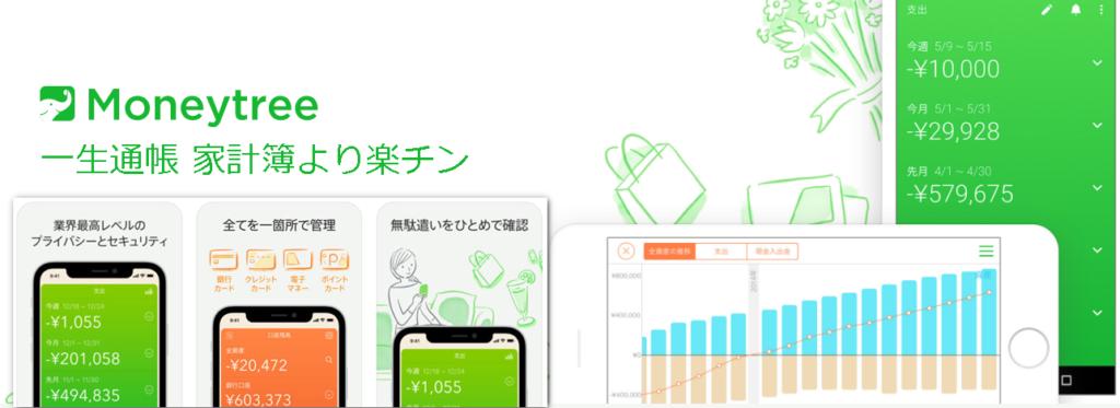 無料家計簿アプリマネーツリーのアイキャッチ画像