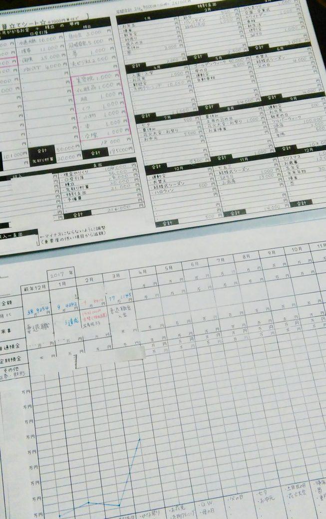 hanaの家計簿記入例