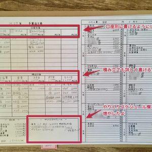 手書き家計簿の予算立てシート(年間支出計画)テンプレート