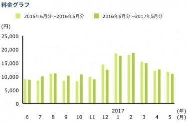我が家の電気料金の推移グラフ