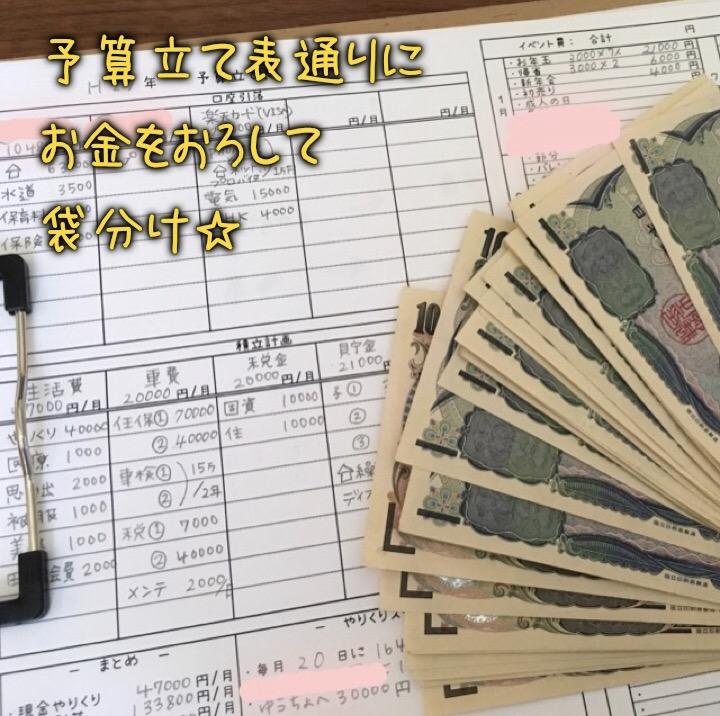 hanaの袋分け家計簿☆給料日にやることリスト☆