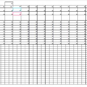 手書き貯金簿(家計簿)フォーマット無料印刷ページ