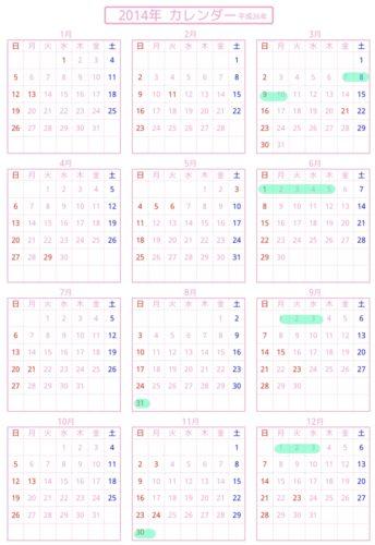 楽天スーパーセール2014年の予想カレンダー