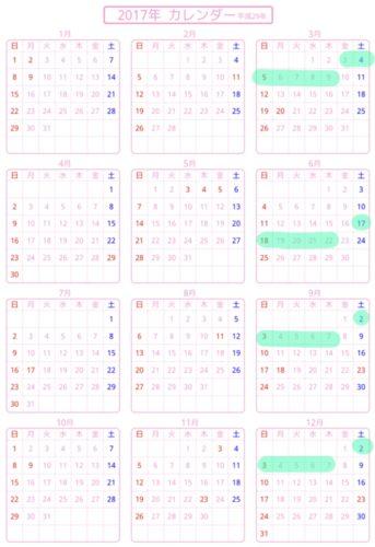 楽天スーパーセール2017年の予想カレンダー