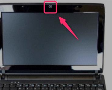 パソコンの上にインカメラがある場合の写真